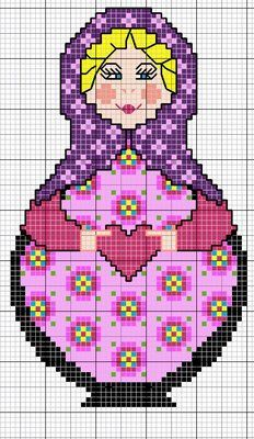 gazette94: #matroshka #dolls #cross-stitch