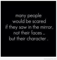 If we saw our character, not our faces