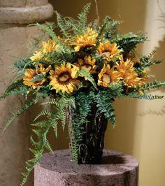 Fern and Sunflower