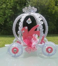 12-Cinderella Carriage Centerepieces, Quinceanera, Sweet 16  Centerpieces Princess Birthday Sweet 16th Quince, Sweet Sixteen Decor by DollyDollz on Etsy