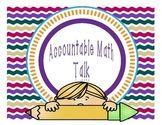 Accountable Math Talk for Math Wall - Math Wall, Math Notebooks, Classroom Posters, Teacher Pay Teachers, Teacher Newsletter, Mathematics, Bubbles, Product Launch, Student