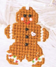 GINGERBREAD Baby - CHRISTMAS Ornaments - Plastic Canvas PATTERNS. $1.00, via Etsy.