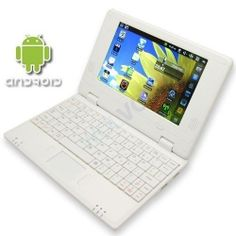 "WHITE 7"" Mini Netbook Laptop Notebook Netbook WIFI Internet Android 2.2, 3 USB Ports 4gb HD 256mb Ram (INCLUDES: Velvet Pouch Case, Charger, Mini Optical Mouse)    Product sku: 103Availability: In StockPrice: $109.94"