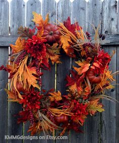 Fall Wreath, Autumn Leaf Wreath
