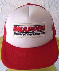 1325eb51a07 SNAPPER Vintage Trucker HAT Red Mesh Adjustable Mower Tillers Tractors OS  CAP