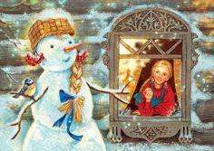 Просмотреть иллюстрацию СнегоВика из сообщества русскоязычных художников автора Таня Сытая / Tanya Sitaya в стилях: Книжная графика, нарисованная техниками: Растровая (цифровая) графика.