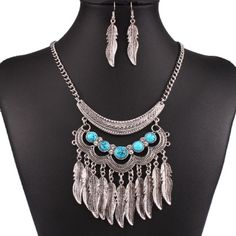 Silver Turquoise Statement Necklace Colorful and beautiful!! Jewelry Necklaces