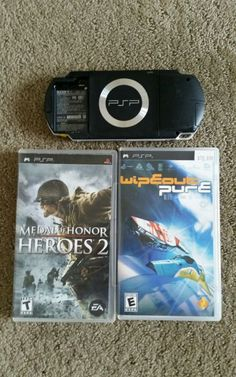 Sony PSP 1001 Handheld Game System With Two Games Playstation Portable…