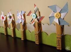 Amora's Crafts and Ideas: Garden windmills to # sextacriativa
