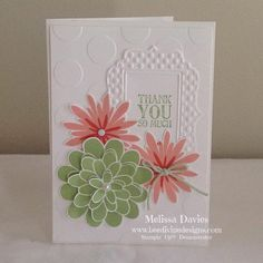 Flower patch - thank you by scrappedon - Cards and Paper Crafts at Splitcoaststampers