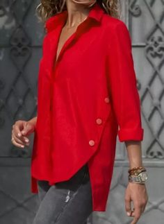 Shop Floryday for affordable Tops. Floryday offers latest ladies' Tops collections to fit every occasion. Long Blouse, Short Sleeve Blouse, Long Sleeve, Blouse Dress, Latest Fashion For Women, Latest Fashion Trends, Fashion Women, Blouse Designs, Blouses For Women