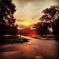 Vivid sunset over Olmsted Center. By Nick Baker, sophomore marketing major. #DrakePOTD