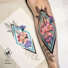 a647fd743 Floral tattoo by © Jason Adelinia World Tattoo, Tattoo Images, Negative  Space, Cool
