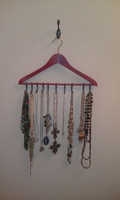 Acrylic paint on wooden hanger and shower curtain hooks