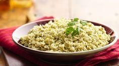 arroz con cilantro y perejil