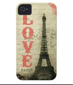 Eiffel Tower - Love iPhone case