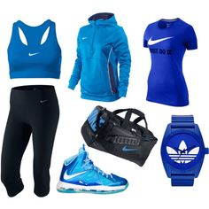 Sporty outfit blue