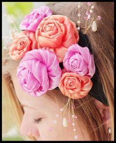 DIY Wedding: DIY Jeweled Rosette Headband