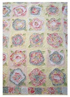 Scrappy flower quilt