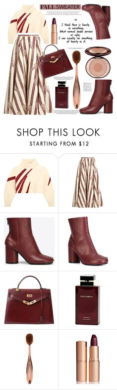 """Cozy fall sweater"" by mood-chic ❤ liked on Polyvore featuring Vika Gazinskaya, Emilia Wickstead, Maison Margiela, Hermès, Dolce&Gabbana, Charlotte Tilbury and fallsweaters"