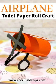 This Airplane Toilet Paper Roll Craft uses toilet paper rolls that you already have from around your house to make a fun and easy craft for your kids!