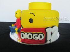Doces Opções: Bolo de aniversário Lego