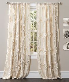 Look at this #zulilyfind! Ivory Avon Window Curtain Panel - Set of Two by Lush Décor #zulilyfinds
