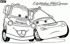 για ζωγραφική Κεραυνός Μακουίν και Μπάρμπας στην ταινία Αυτοκίνητα 2
