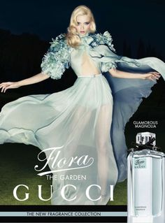 "Model: Abbey Lee Kershaw | Photographer: Sølve Sundsbø - ""The Garden Collection"" for Flora by Gucci"