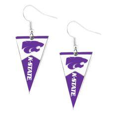 Kansas State Wildcats Women's Pennant Dangle Earrings