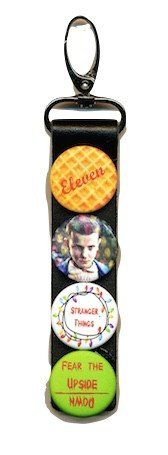 Get your waffle on! Stranger Things leather keychain Button images include waffle, eleven lights and the upside down Total length inches. Leather portion is 4 inches Stranger Things Quote, Stranger Things Steve, Stranger Things Aesthetic, Hanging Christmas Lights, Leather Keychain, Favim, Friends In Love, Favorite Tv Shows, Strange Things
