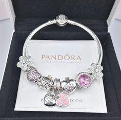 NEW pandora charm bracelet with 8pcs charms golden head clasp   PandoraJewelry Schmuck Ringe, 6d16bf94ca