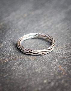 Torsade silver ring , sterling silver ring adjustable , phalanx ring bague en argent torsadée ajustable