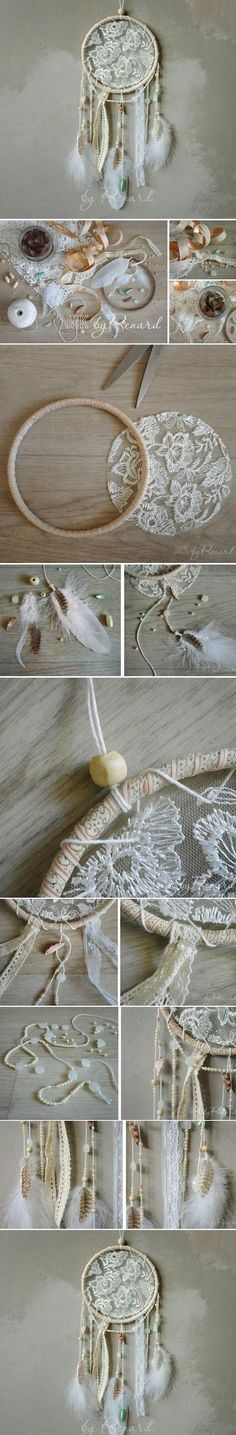 This is a great way to make a dream catcher. all you need is some materials and some stuff you can find at home. Happy making!