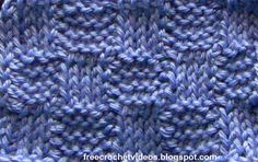 Free Crochet Videos: Tunisian Crochet Basketweave Stitch