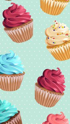 Cupcakes Wallpaper I Baking Wallpaper, Food Wallpaper, Iphone Background Wallpaper, Wallpaper Iphone Disney, Tumblr Wallpaper, Cellphone Wallpaper, Wallpaper Ideas, Trendy Wallpaper, Cupcakes Wallpaper