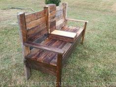15 DIY Outdoor Pallet Bench | Pallet Furniture Plans by Banphrionsa