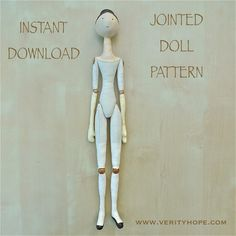 Amazing jointed doll pattern!                                                                                                                                                      More