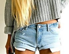 sweater and shorts fall style