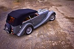 The Morgan 4-seater Roadster! I'm in love! These autos are handmade with bodies of molded and steam-curved wood. The Morgan Motor Company also creates the awesome Morgan Aero and a 3-wheel boat-tail.