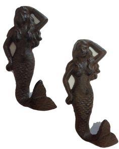 Mermaid Cast Iron Nautical Wall Hook Set of 2 Moby Dick https://smile.amazon.com/dp/B00HTEA3UC/ref=cm_sw_r_pi_dp_x_aeJmyb0GEZ6PW