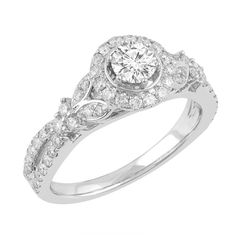 Love by Michelle Beville 18ct White Gold 93pt of Diamond Solitaire Ring. Available in stores or online - 9B51000