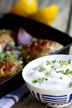 Greek Chicken Bake with Tzatziki - Simply Delicious— Simply Delicious