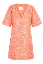 V-Neck Silk Jacquard Shift Dress By Richard Nicoll  A nice shape - v-neck tunic pattern?