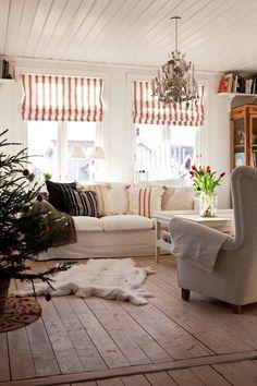 renskinn och julgran