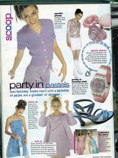 look Seventeen Magazine, December 1996 90s Teen Fashion, Early 2000s Fashion, Retro Fashion, Vintage Fashion, Fashion Outfits, High Fashion, Seventeen Magazine, Sassy Magazine, Twin Set