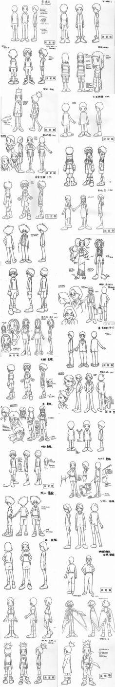 digimon characters model sheet