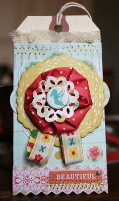 Paper flower tag