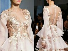 Detail at Ralph & Russo Spring 2016 Haute Couture. Pink Wedding Dresses, Prom Party Dresses, Wedding Gowns, I Dress, Dress Outfits, Ralph And Russo, Dressy Dresses, High Fashion, Spring 2016