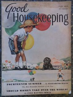 Good Housekeeping Magazine  July 1938  Horace Gaffron Cover  VINTAGE ADS